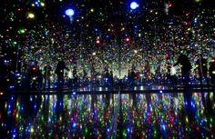 "#YayoiKusama ""Infinity Mirrored Room — The Souls of Millions of Light Years Away"" #Japan #installation"