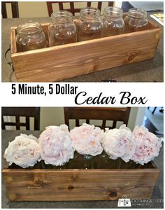 A cedar box you can make in 5 minutes from just one piece of wood!
