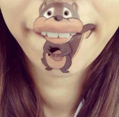 Funny Pictures of Disney Lip-Art Painting
