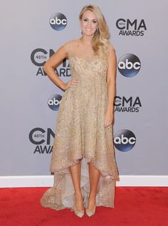 Carrie Underwood's Lorena Sarbu dress on the CMA Awards red carpet.