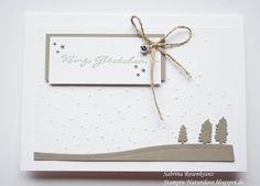 Weihnachten - Weihnachtskarte Stampin up Kling, Glöckchen - ein Designerstück von natureLove bei DaWanda