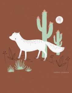 Desert Fox... 🌵 Cassie Loizeaux 2018.  #desert #fox #cactus #moon #animal #digital #ipadpro #art #sketch #drawing #roomdecor #walldecor #kidsroom #cute #clsketchbook2018 Sketch Drawing, Painting & Drawing, Fox Illustration, Illustrations, Desert Animals, Sketchbook Project, Animal Room, Cactus Flower, Cute Characters