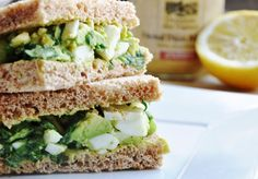 Perfect for Afternoon Tea... a healthy Avocado Egg Salad Sandwich!  Outrageously delicious!