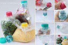 Bolsas de plástico herméticas caseras