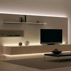 I like the lighting but why would you not Mount that TV