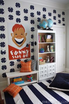 Inspiration: Kids' Reading Nook (Pottery Barn Kids/PBS Kids #booknookchallenge)  #munire #pinparty #MadeinUSA