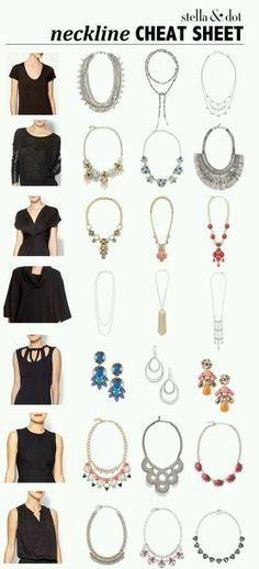 neckline and necklace