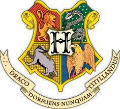Hogwarts coat of arms colored with shading - Harry Potter - Wikipedia