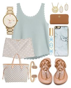 """""""I love this outfit """" by jadenriley21 on Polyvore featuring Tory Burch, Michael Kors, Zero Gravity, Kendra Scott, Kate Spade and Louis Vuitton"""
