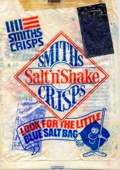 1950's Smiths Crisps .....salt came in a little  bag inside