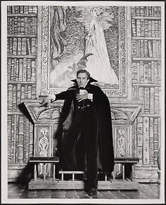 Jeremy Brett as Dracula with Edward Gorey backdrops