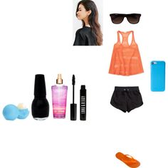 Pool Outfit by marydecker on Polyvore featuring Aéropostale, H&M, Havaianas, PhunkeeTree, Vans, Lord & Berry and Eos