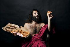 Photographer Rebecca Rütten created Renaissance-inspired portraits with a fast food twist