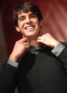 Look at all the smileys I'm pinning! I  must be happy. This is Kaka not wearing super sweaty clothes.