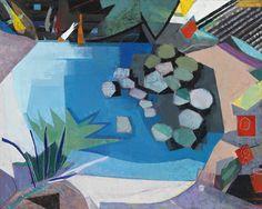 John Evans (b. 1945), Silent Garden, 2014. oil on canvas, 48 × 60 inches