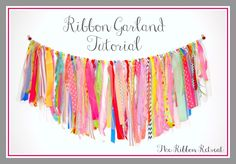 My Craft Room Ribbon Garland Valance! tutorial and supply list included :) ~ The Ribbon Retreat Blog