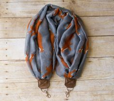 DSLR Scarf Camera Strap  Grey Fox by ImaniStudio on Etsy
