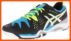 ASICS Men's Gel-Resolution 6 Tennis Shoe,Onyx/White/Atomic Blue,11.5 D(M) US - Our favorite sneakers (*Amazon Partner-Link)