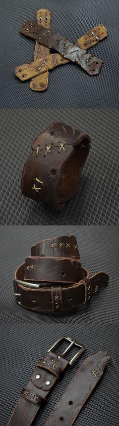 Crafts//Steampunk Box Lot Thick Latigo Harness Leather Hide Scrap Strap Pieces
