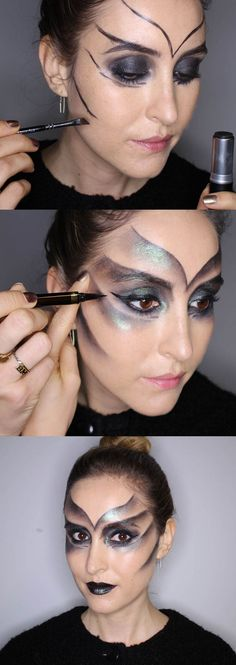 In this step-by-step makeup tutorial of a simple but oh-so effective Halloween look, Cosmo's Online Beauty Editor Bridget shows you (with the help of magic makeup artist Harriet of Harry Makes It Up) how to recreate this lizard-like look. Follow the tips to nail it yourself for Fright Night. Happy Halloween!