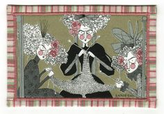 Ghastlies fabric postcard from Mrs. Annie Ghastlie.