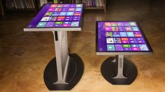 Large-scale multi-touch hardware designer and producer Ideum has teamed up with the Touch Systems division of to launch the Platform 46 range of Windows 8 multi-touch tables. Architecture Design, Smart Table, Tiny Office, Touch Screen Technology, Small Space Interior Design, Gaming Room Setup, Home Office Decor, Home Decor, Office Ideas