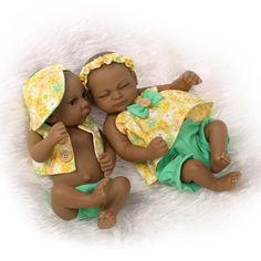 28.37$  Buy here - http://aixak.worlditems.win/all/product.php?id=32686908885 - 10 inch African American Baby Doll Black Boy Girl Full Silicone Body Bebe Reborn Baby Dolls Ethnic Alive Doll Brinquedo Juguetes