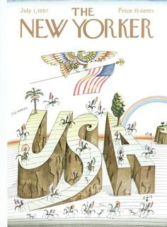 The New Yorker - Saturday, July 1, 1967 - Issue # 2211 - Vol. 43 - N° 19 - Cover by : Saul Steinberg