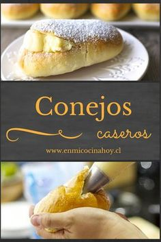 A classic after school, with custard rabbits are a traditional Chilean cake. Mexican Food Recipes, Sweet Recipes, Chilean Recipes, Chilean Food, Mexican Bread, Biscuits, Donuts, British Baking, Pan Dulce