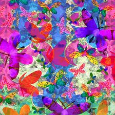 Butterfly Explosion - Textile Federation