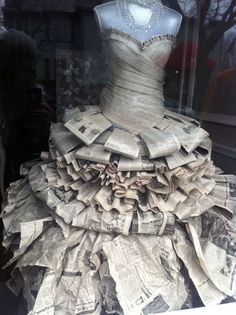 Risultati immagini per how to make a newspaper dress (How To Make Dress For Kids)
