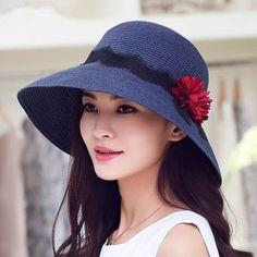 Summer flower straw sun hat for women UV package beach hats ecdc73565b63