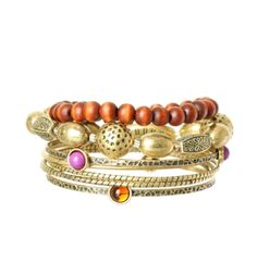 burnished gold bracelet set