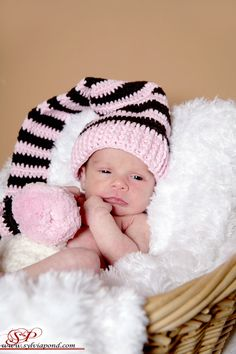 $22 plus shipping~Crochet Pixie Hat, Newborn  Photo provided by Sylvia from SP Photography (www.sylviapond.com)