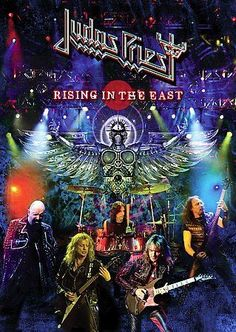 Shop Judas Priest: Rising in the East [DVD] at Best Buy. Find low everyday prices and buy online for delivery or in-store pick-up. Heavy Metal Rock, Heavy Metal Bands, Rock Posters, Concert Posters, Music Posters, Art Posters, Hard Rock, Judas Priest Albums, Eighties Music