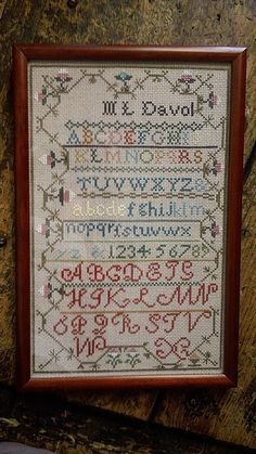 Vintage Counted Cross Stitch Sampler by hollysRecreations on Etsy