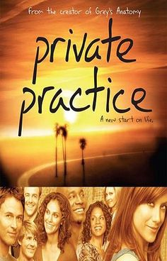 "Private Practice.  It's an embarrassing guilty pleasure.  But not as embarrassing as ""Revenge"" or ""666 Park Avenue."""