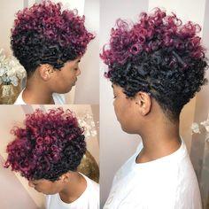 Hair that speaks for itself!!! 💕💜💕 . . . . #naturalhair #purplehair #pinkhair #mariettahairstylist #continuededucation #avloneducator…