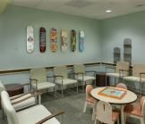 Skateboards installed in casting room as art.  Skateboard designs by famous Portland area artists from Cal8.  Art by Studio Art Direct.  http://www.studioartdirect.com