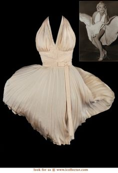 Travilla's famous white dress worn by Marilyn Monroe in The Seven Year Itch