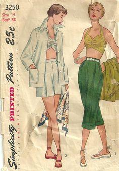 Patrones de costura simplicidad 3250 / Vintage por studioGpatterns