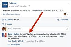 It's a damn shame. Syria refugees, terrorist, terrorism, ISIS, mass shooting, school shooting, guns in the U.S.