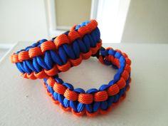 Orange and Blue Bracelet Team Colors Gators Mets Bears by kozga