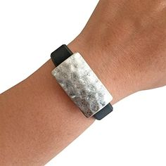 Charm to Accessorize the Fitbit Flex and Other Fitness Trackers  The LITTLE ROXANNA Hammered Silver Charm to Dress Up Your Favorite Activity Tracker Silver Fitbit Flex >>> You can find out more details at the link of the image. (Note:Amazon affiliate link)