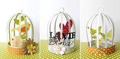 Como fazer mini gaiola de papel para decoração de mesa de casamento e lembrancinhas ~ VillarteDesign Artesanato