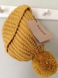 Mustard handmade crochet bobble hat https://www.etsy.com/uk/shop/TheManchesterBee?ref=hdr_shop_menu