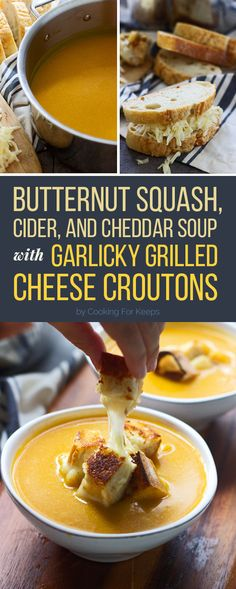 Croutons are great, but GRILLED CHEESE CROUTONS are basically the greatest thing that could ever happen to soup.