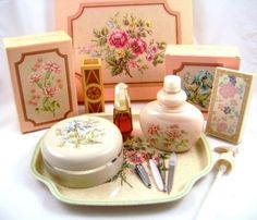 1980 Avon Vanity Collection French Floral with Timeless fragrance @ Carolinabluelady Vintage Collectibles
