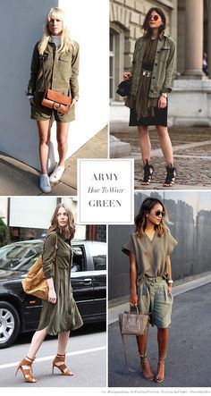 Blue is in Fashion this Year: How to Wear Army Green