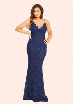 dd52180e569 Jessica Wright Shana Navy Lace Cami Strap Maxi Dress Debenhams Dresses
